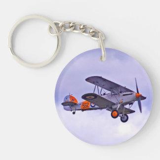 Vintage Airplane Key Ring