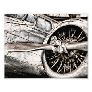 Vintage Airplane Photo Print