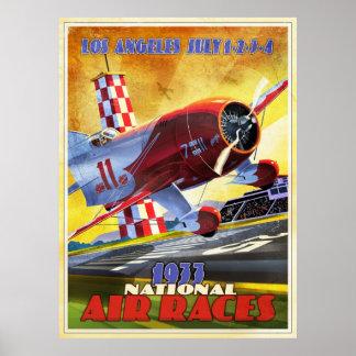 Vintage airplane racer posters