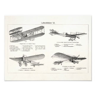 Vintage Airplane Retro Old Biplane Antique Planes Photo Print