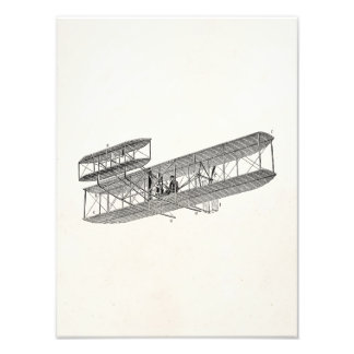 Vintage Airplane Retro Old Biplane Plane Biplanes Photographic Print