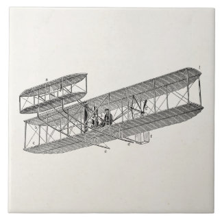 Vintage Airplane Retro Old Biplane Plane Biplanes Tile