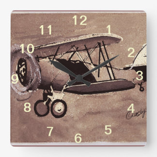 Vintage Airplane Wall Clock