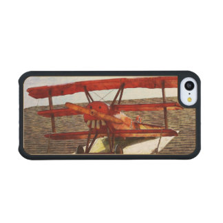 Vintage Airplane Carved® Maple iPhone 5C Case