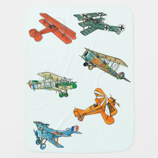 Vintage Airplanes Custom Baby Blanket by Janz