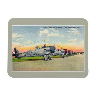 Vintage airplanes Maxwell Field Montgomery AL Rectangular Photo Magnet