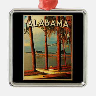 Vintage Alabama Christmas Ornament