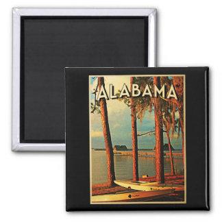 Vintage Alabama Square Magnet