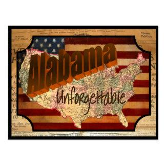 Vintage Alabama State Old Postcard