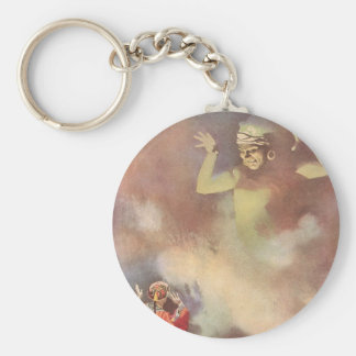 Vintage Aladdin and the Genie of the Lamp, Godwin Basic Round Button Key Ring