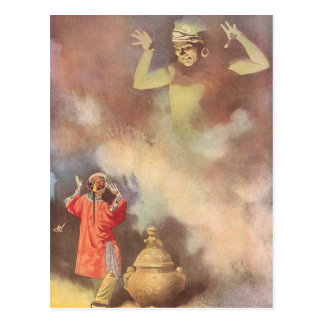 Vintage Aladdin and the Genie of the Lamp, Godwin Postcard