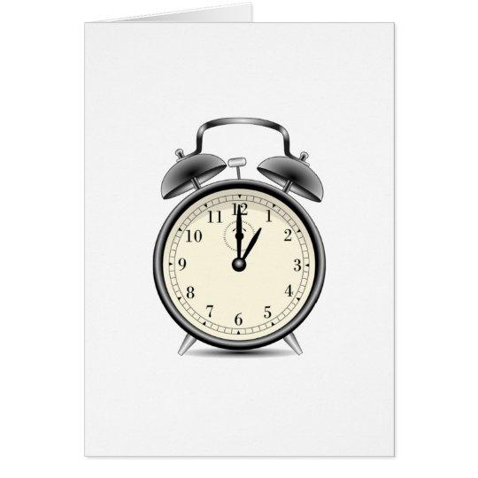 Vintage Alarm Clock Card
