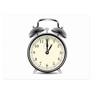 Vintage Alarm Clock Postcard
