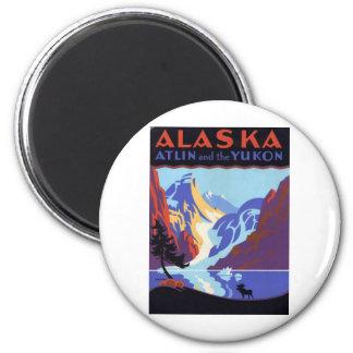 Vintage Alaska 6 Cm Round Magnet