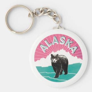 Vintage Alaska bear Key Ring