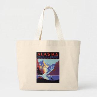 Vintage Alaska Large Tote Bag