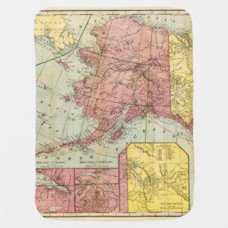Vintage Alaska Map Both Sides Covered Baby Blanket