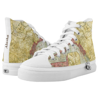 Vintage Alaska Map Unique Shoes