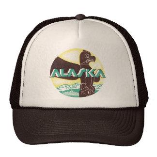 Vintage Alaska Travel Totem Pole Eagle Bird Cap