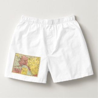 Vintage Alaskan Map All Alaskan Custom Text Boxers