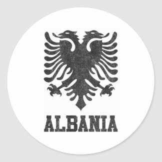 Vintage Albania Classic Round Sticker