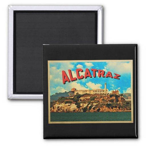 Vintage Alcatraz Island Fridge Magnet