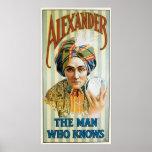 Vintage Alexander Magician Poster 1915