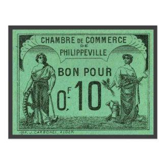 Vintage Algeria Chambre de Commerce, Philippeville Postcard