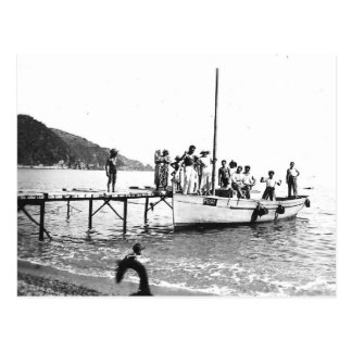 Vintage Algeria Fishing and fun, Philippeville, Postcard