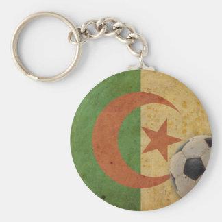 Vintage Algeria Flag Basic Round Button Key Ring