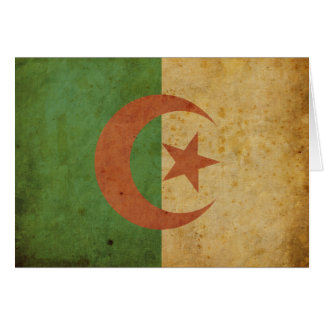 Vintage Algeria Flag Greeting Card