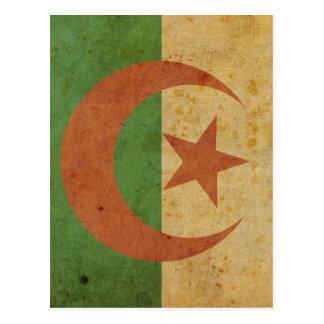 Vintage Algeria Flag Postcard