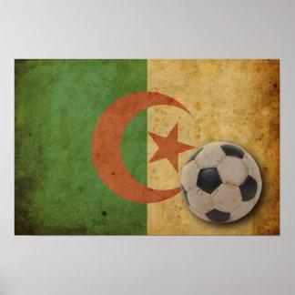 Vintage Algeria Flag Print