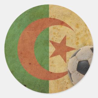 Vintage Algeria Flag Round Sticker