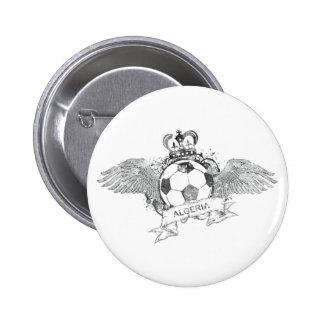 Vintage Algeria Football 6 Cm Round Badge