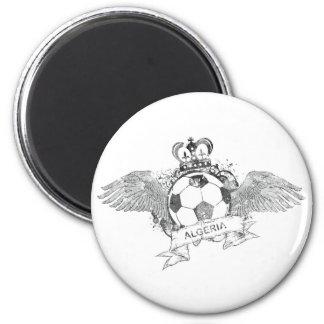 Vintage Algeria Football 6 Cm Round Magnet