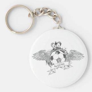 Vintage Algeria Football Basic Round Button Key Ring