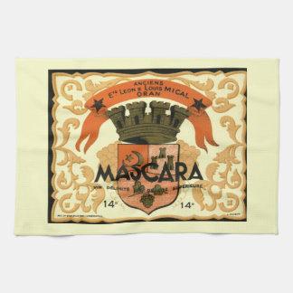 Vintage Algerian Wine label,  Mascara Tea Towel