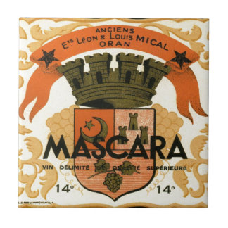 Vintage Algerian Wine label,  Mascara Ceramic Tiles