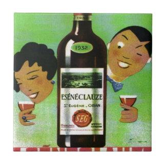 Vintage ALgerian wine label Ceramic Tile