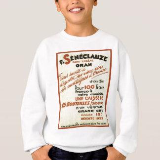 Vintage Algerian wine labels Sweatshirt