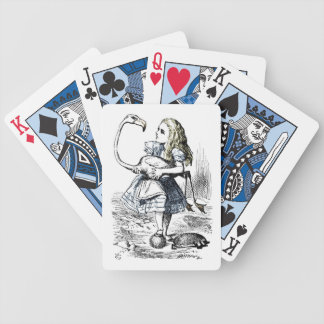 Vintage Alice and the Flamingo Playing Cards