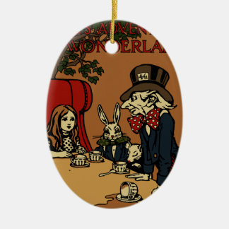 Vintage Alice Cover Mad Tea Party Christmas Ornament