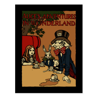 Vintage Alice Cover Mad Tea Party Postcard