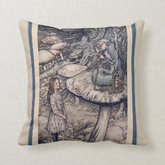 VINTAGE ALICE IN WONDERLAND AND HOOKAH CATERPILLAR CUSHION