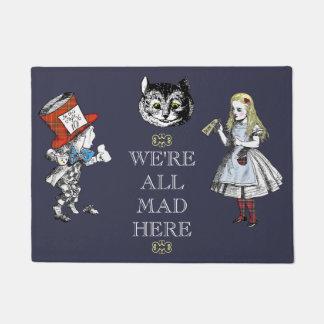 Vintage Alice in Wonderland Art Doormat