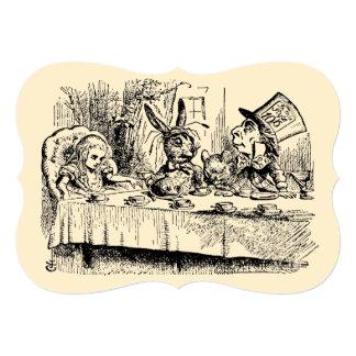 """Vintage Alice in Wonderland Baby Shower 5"""" X 7"""" Invitation Card"""
