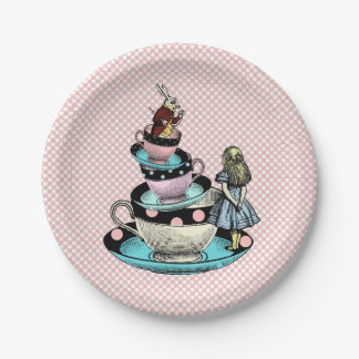 Vintage Alice in Wonderland Baby Shower Paper Plate