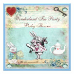Vintage Alice in Wonderland Baby Shower Tea Party Personalised Invitation