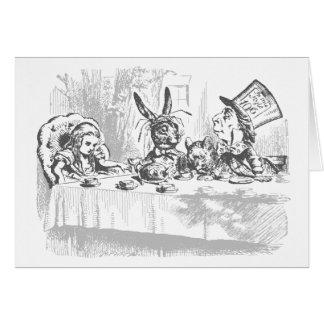 Vintage Alice in Wonderland Birthday Card